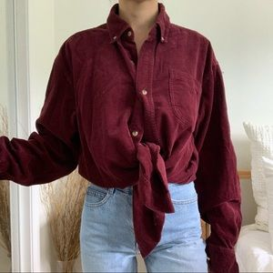 Vintage Steve and Barry's Corduroy Maroon Shirt